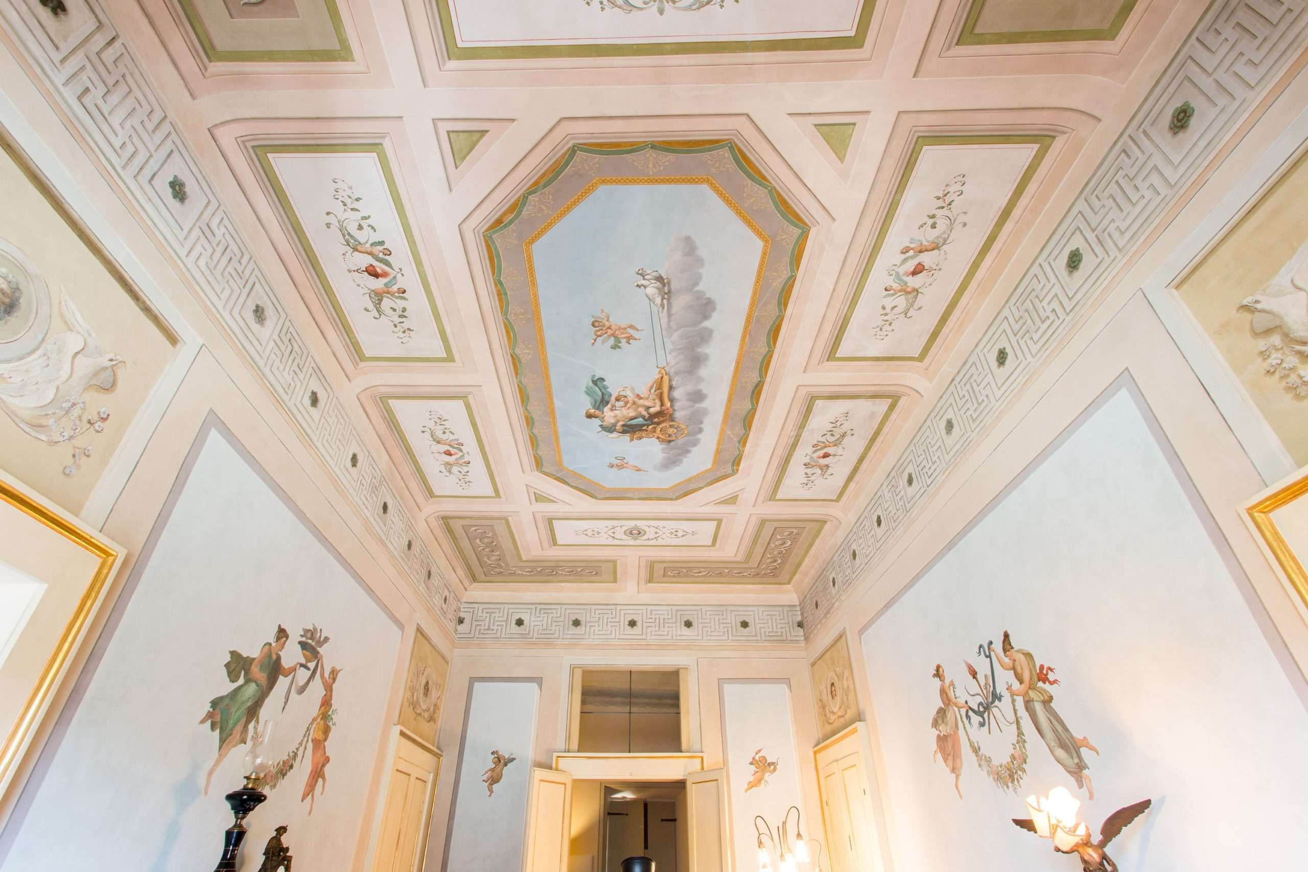 affreschi palazzo gentili
